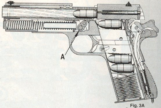 how the m1911 pistol works with great diagrams the firearm rh thefirearmblog com 1911 pistol diagram of parts 1911 pistol diagram parts
