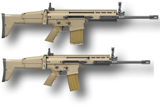 Scar 17s top and its smaller brother the 16s