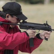 The Heckler & Koch MP7 in action.