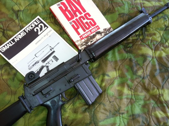 Armalite AR-180 was popular with Cuban exile commandos in the late 60s.