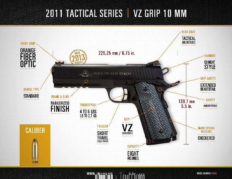 12 - 10mm Tactical VZ Spec Sheets copy