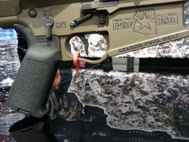 The EFP trigger in an AR-15 lower.