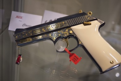 Korth Classic Semi-Auto Pistol, .45ACP with engraving -- $30,000
