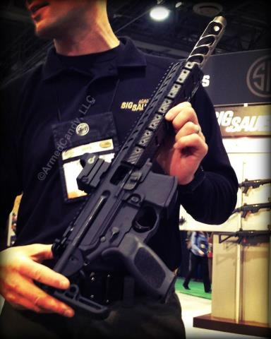 Sig Sauer's MPX (without can) Photo courtesy of Armed Candy