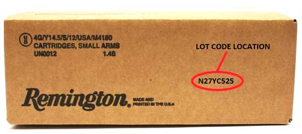 Remington ammo recall