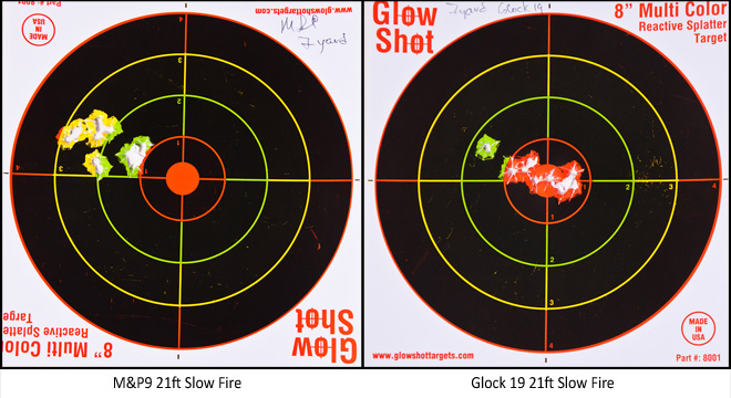 M&P vs. Glock at the range