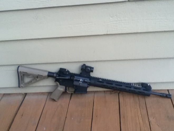 The author's rifle after installation.