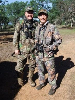 Ted Lidie of NorCal Firearms Instruction and I posing for a quick pic during our turkey hunt before class started for the week.