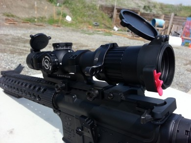 The MGM Switchview on the author's Leupold Mk-6 1x6x20mm CMR-W scope.