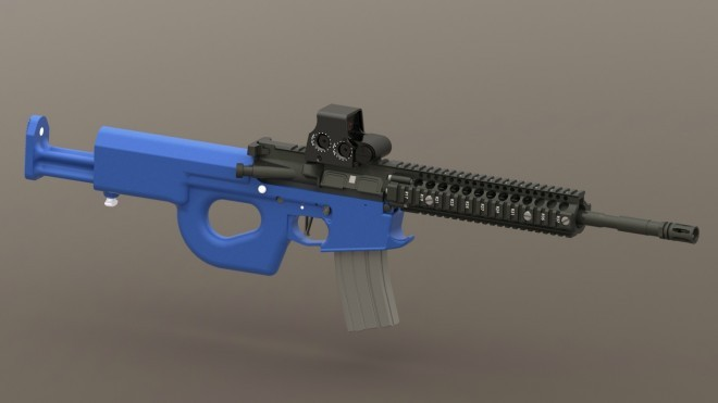 Carbine, Adjustable Stock, Mockup