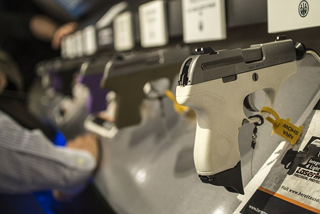 The Beretta Pico is available with several different frame colors, including white, purple, flat dark earth, and black.