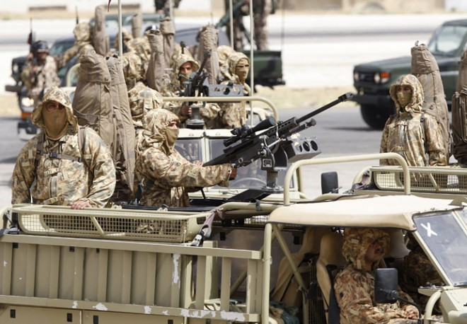 jordanian special forces turret mounted barrett 50 cal rifles the