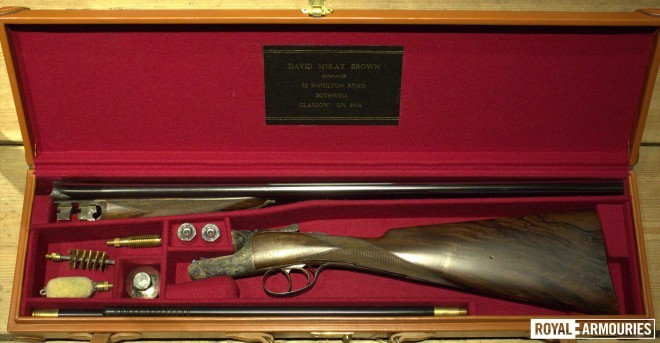 The Raven Gun disassembled in its travelling case © Royal Armouries