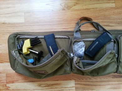 Mags, wrenches, chokes, and other tools needed out on the range can be stored in two good size pockets.