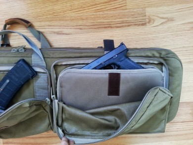 A pistol pouch protects a pistol of your choice.