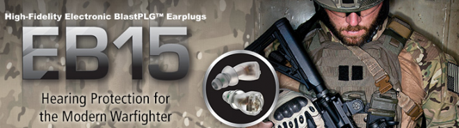 Etymotic Research  Inc. 1  EB15 Electronic BlastPLG® Earplugs for Warfighters