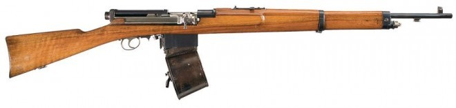 Mondragon 1907 with drum magazine