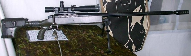 the actual weapon Corporal Rob Furlong of the Princess Patricia's Canadian Light Infantry (PPCLI) used to kill an enemy combatant from 2,430 meters.
