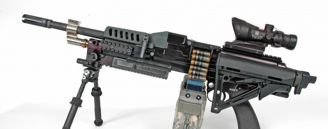 Compact LSAT Light Machine Gun