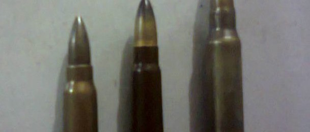 From Left-Right: Double Four, 7.62x39mm, 7.62x51mm