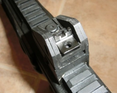 Taurus CT9 rear sight