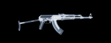 AK-47 x-ray by Nick Veasey, courtesy of the artist.