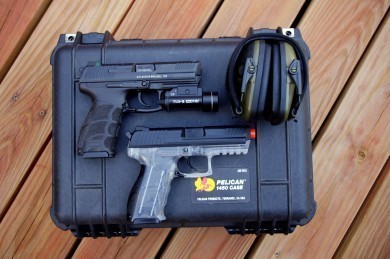 Heckler and Koch branded airsoft pistol. Excellent training tool.