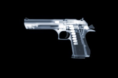 Desert Eagle x-ray by Nick Veasey, courtesy of the artist.