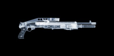 Franchi SPAS-12 x-ray by Nick Veasey, courtesy of the artist.
