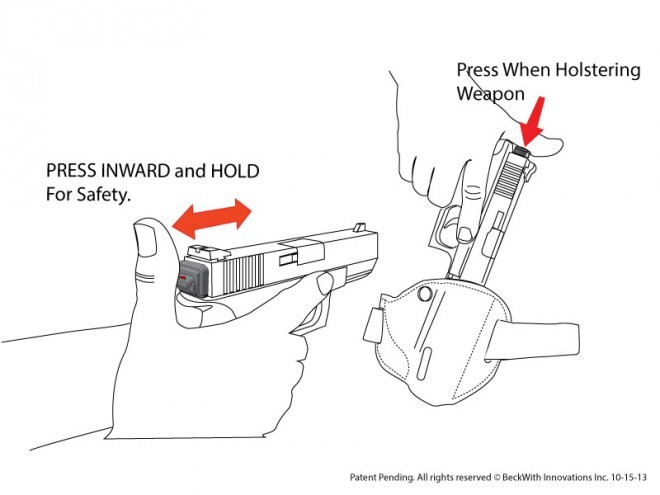 sure-draw momentary glock safety