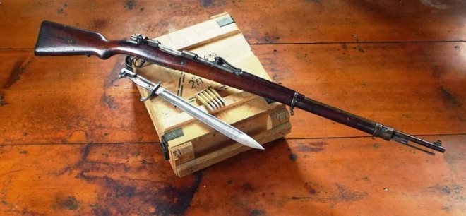 Gewehr 98; a typical long barrel full power repeating rifle