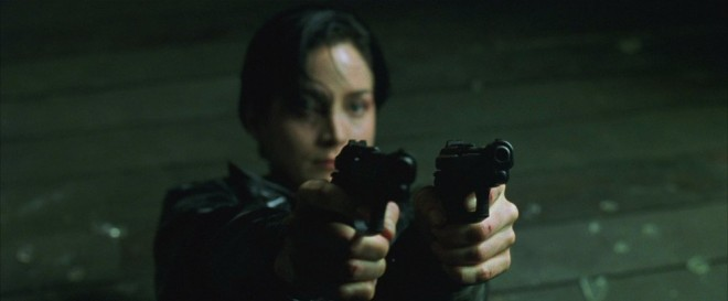 Trinity with her dual Beretta M84Fs, 'The Matrix' (1999)
