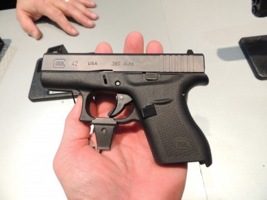 "Up close with the ""mini"" Glock 42."