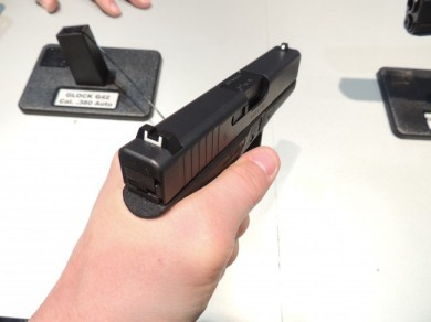 Holding the Glock 42 is amazingly familiar to the larger versions.