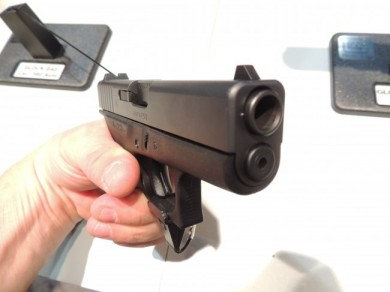 """The business end of the """"mini"""" Glock 42."""