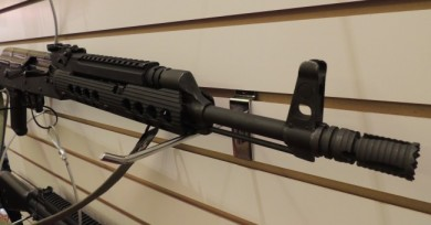 A frontal view of the Troy AK-47 hand guard.