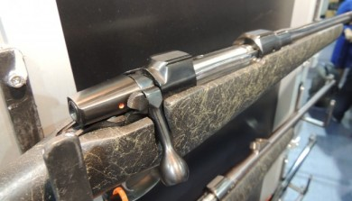 A closer look at the CZ550 Badlands action and stock.