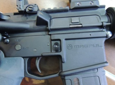 There it was again, the Magpul insignia engraved into the lower receiver!  I wasn't delirious after all.