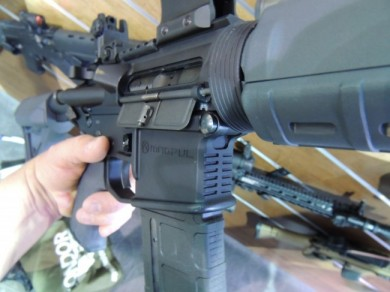 We don't make rifles, indeed!  The Magpul AR-15 ready for business.