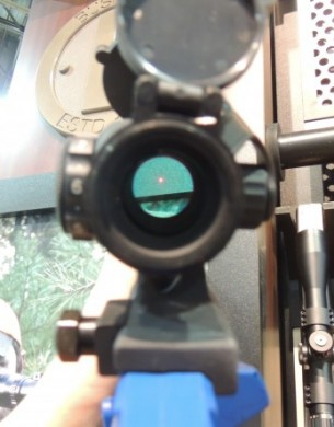The Bushnell CQTS has a 3 MOA dot that is easily observed while not being too large to obscure the shooter's view down range.