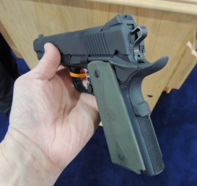 A view of the 1911 Poly from the shooter's grip.