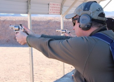 Me shooting the S&W 686 PLUS in single action.
