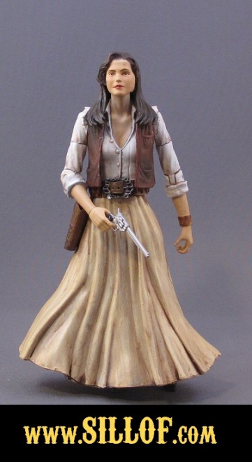 Western-themed Leah with Colt Single Action Army