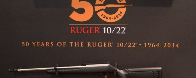 Ruger 10/22 Anniversary Rifle Prototype at SHOT Show.