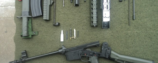 Disassembled IA2 assault rifle