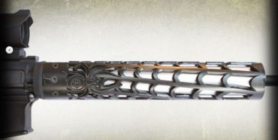 """Sinister and good looking, the """"Web"""" handguard from Unique-AR's"""