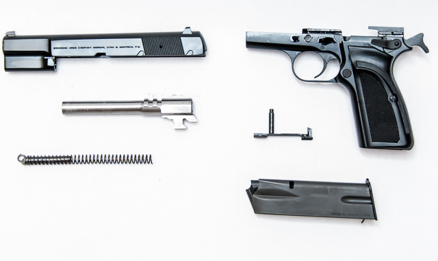 Browning Hi Power Mark III field stripped