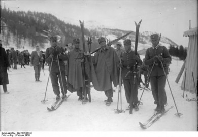 German Military Patrol team at the 1928 Olympics in St. Moritz