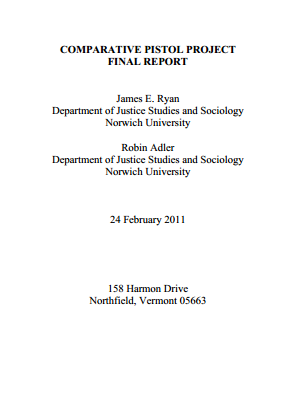 Cover page for the study. It is a fascinating read.
