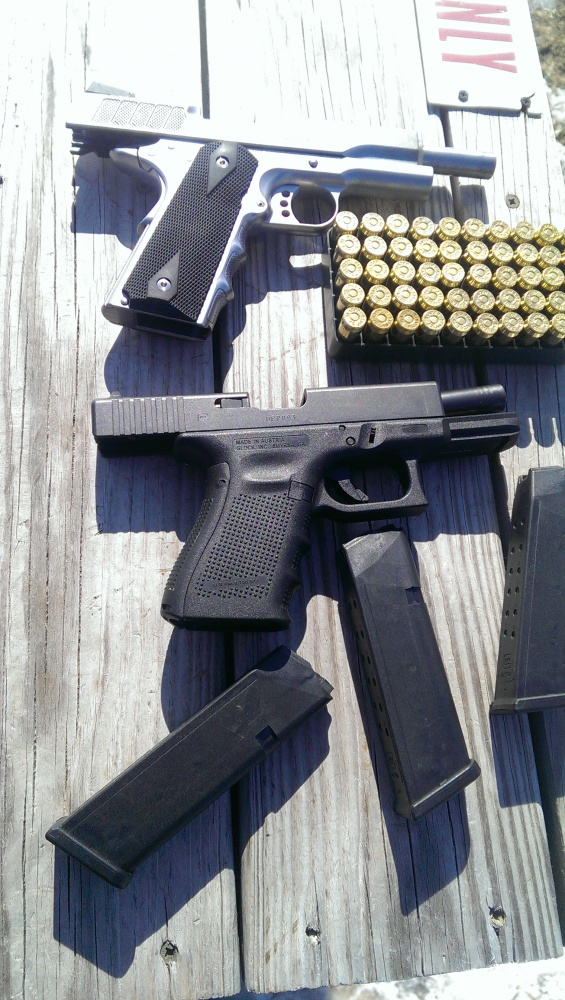 Aesthetically, the SB 1911 makes the Glock look mundane.